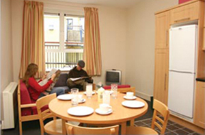 The Spires Student Housing Living Area